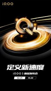 Catat Tanggal, iQoo 3 5G Akan Meluncur 25 Februari