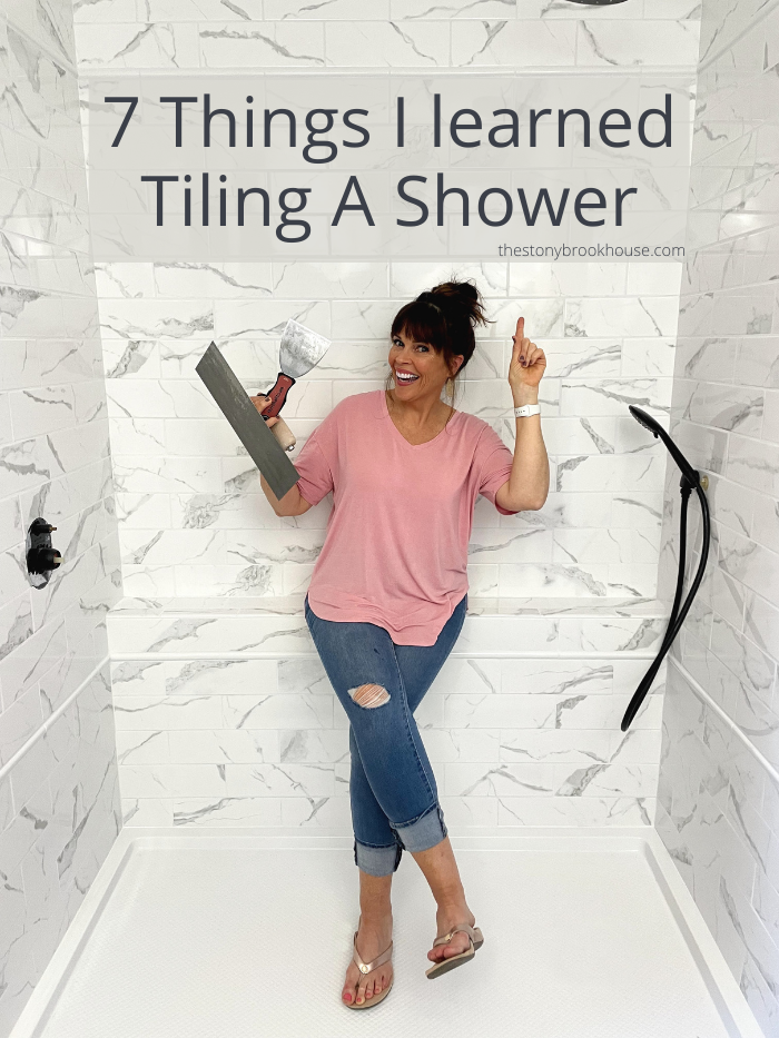 7 Things I learned Tiling A Shower