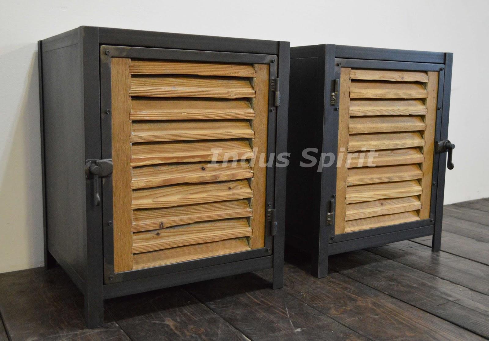 Tables de chevet bois et m tal - Table bois et metal ...