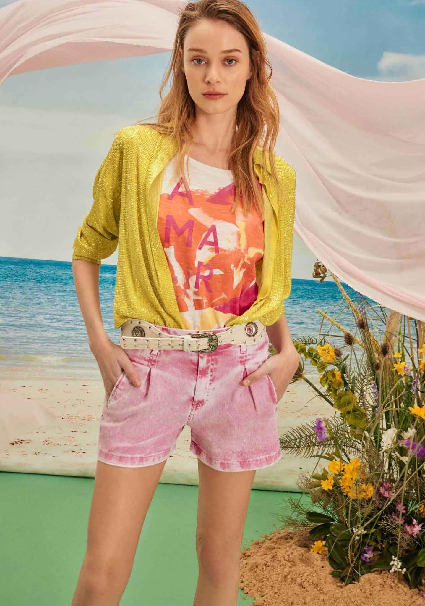 Ropa de verano moda 2021 mujer camisas remeras shorts