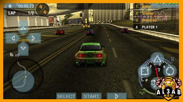 تحميل لعبة السباق نيد فور سبيد Need for Speed Most Wanted PSP للاندرويد PPSSPP بصيغة iso بحجم صغير من ميديا فاير