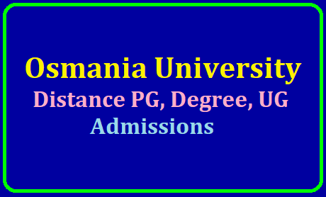Osmania University Distance PG, Degree, UG Admissions 2019 /2019/07/ou-cde-distance-pg-degree-ug-admissions-2019-at-osmania-university-oucde.net.html
