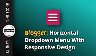Drop down menu for Blogger (blogspot)
