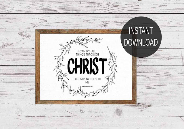 PHILIPPIANS 4:13 - FREE PRINTABLE