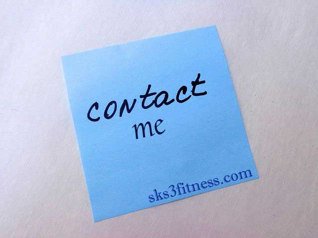 Contact Me - www.sks3fitness.com