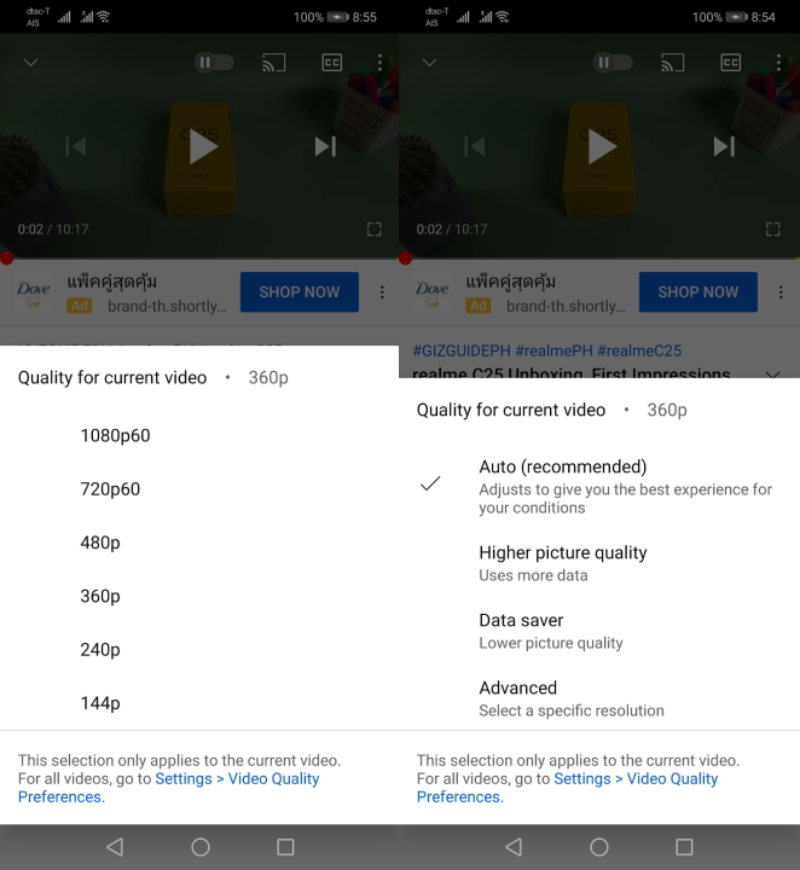 It's now easier to change the video quality of YouTube content you enjoy