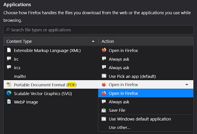 Block PDF Viewer in Firefox