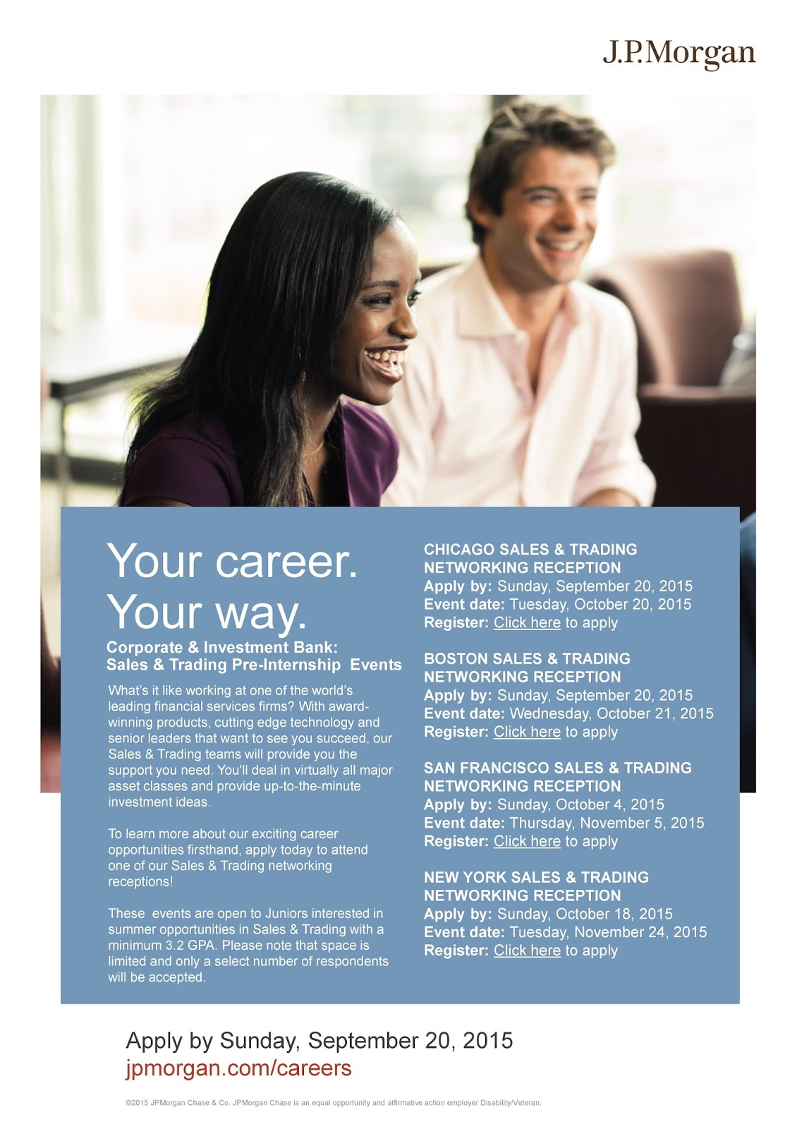 URI CBA Internship/Job Information: J P  Morgan Sales