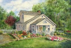 cozy cute cottage watercolor tutorials ink commission adorable lb paper step