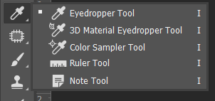 Eyedropper, Color Sample, Ruler dan Note Tool Toolbox Adobe Photoshop