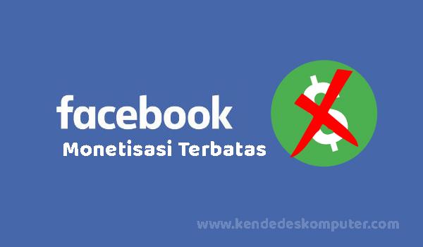 Cara Mengatasi Monitisasi Terbatas Di Facebook Ads Break