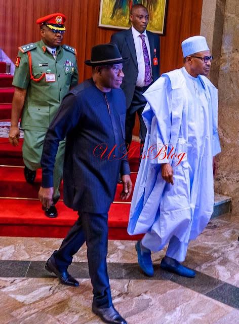 PHOTOS: Buhari hosts Jonathan at Aso Rock