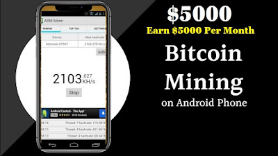 Bitcoin Mining app for android phone