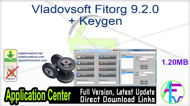 Vladovsoft Fitorg 9.2.0 + Keygen