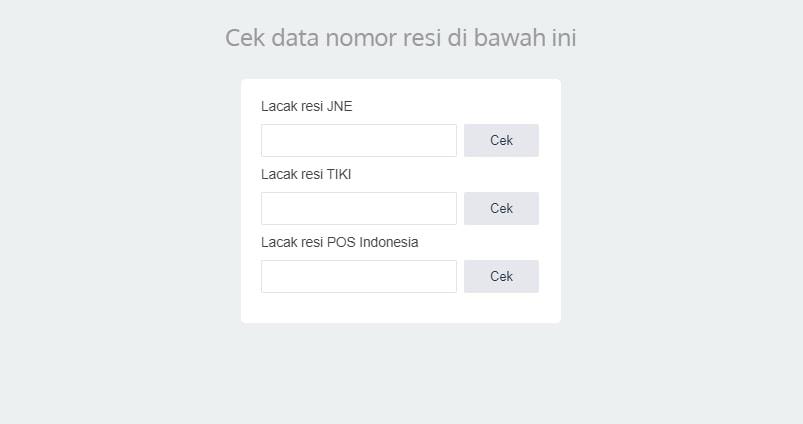 Pasang Widget JNE, TIKI dan Pos Indonesia Terbaru