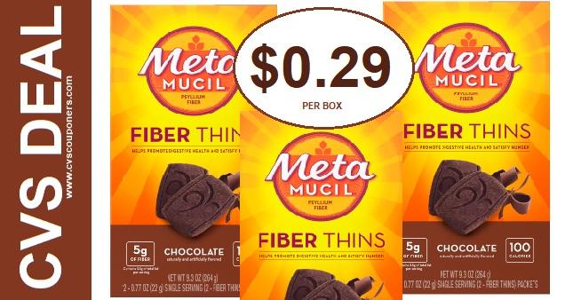 Metamucil Fiber Thins CVS Deal $0.29 1-5-1-11