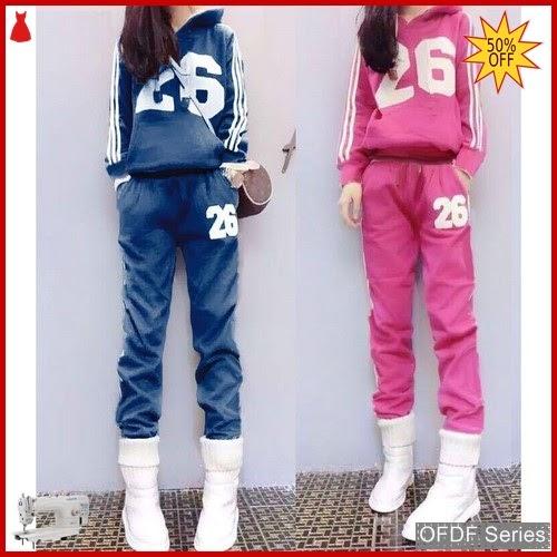 OFDF283 Atasan Blouse Setelan Hoodie Plus Sport BMGShop