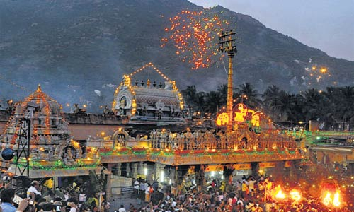 Festival Thiruvannamalai di Tamil Nadu