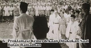 Proklamasi Kemerdekaan Dilakukan Saat Bulan Ramadhan merupakan salah satu fakta menarik sejarah kemerdekaan RI