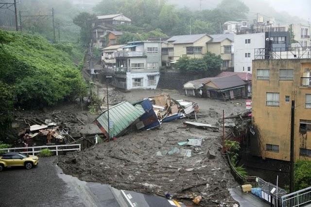 Disaster for Mudslide in Japan's city of #Atami