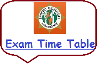Shobhit University Exam Date Sheet 2019