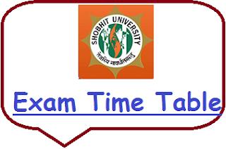 Shobhit University Exam Date Sheet 2020