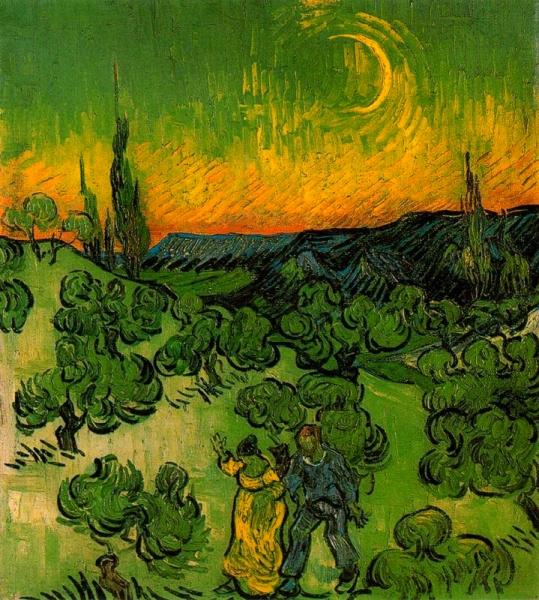 Passeig a la llum de la lluna (Vincent Van Gogh)