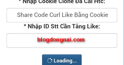 Share Code Curl Like Facebook Sử Dụng Cookie