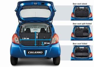 Cốp sau rộng rãi Suzuki Celerio