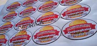 Contoh Desain Stiker label | Percetakan Tanjungbalai