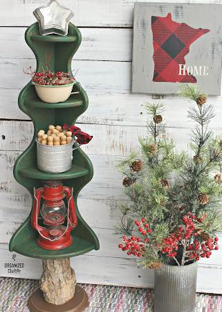 Corner Shelf Repurposed as Christmas Tree