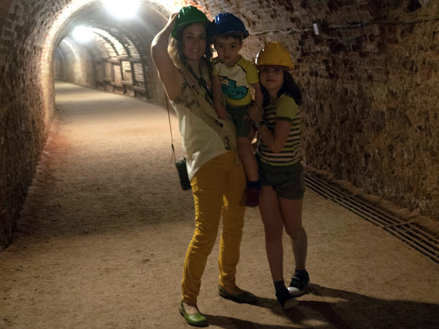 De mineros en la mina del Río Tinto