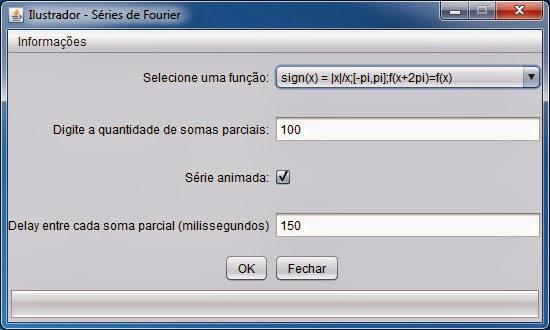 Programa em Java Série de Fourier