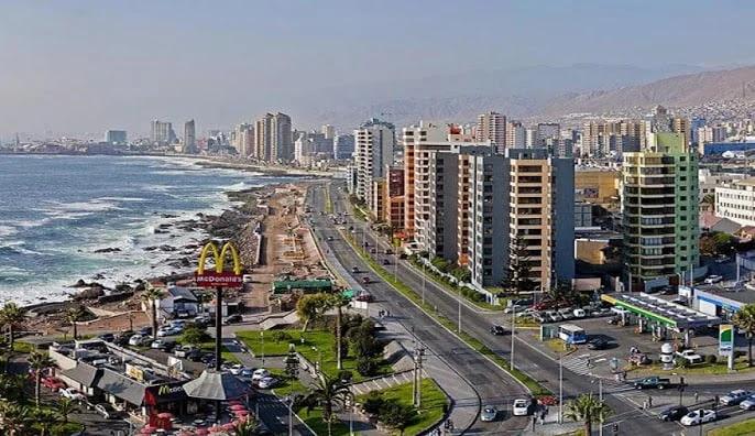 City of Antofagasta, Northern Chile.
