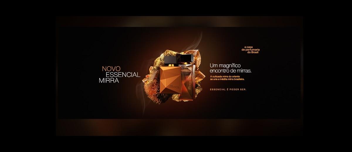 Experimentar Grátis Novo Perfume Essencial Mirra Natura 2020 - Lançamento