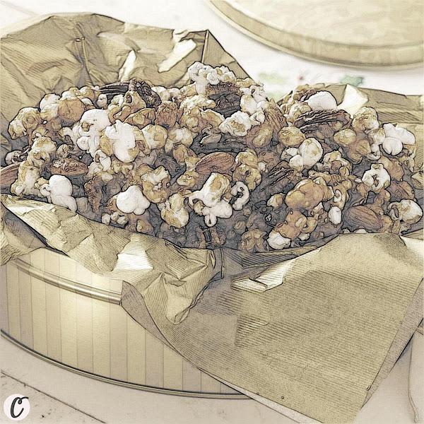 Nutty Caramel Popcorn 🍿