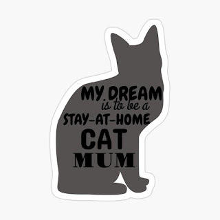 stay at home cat mum sticker