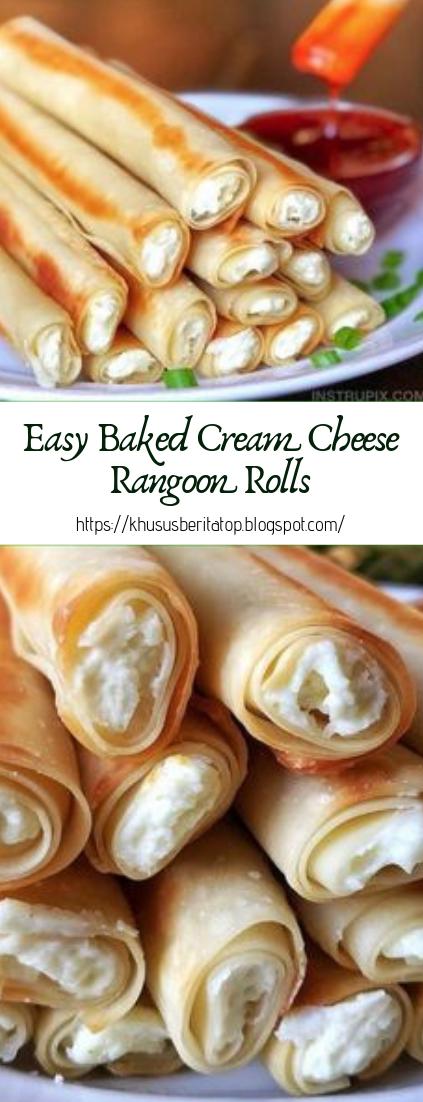 Easy Baked Cream Cheese Rangoon Rolls #healthy #recipe