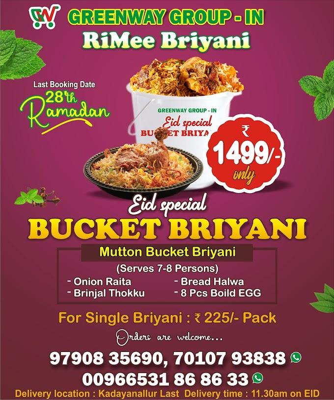 Greenway Hypermarket Bucket Briyani Offer Digital Marketing Social Media Ads Designs