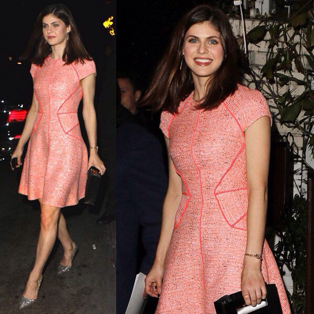 alexandra-daddario-pink-gorgeous-dress