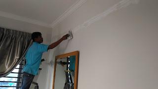 Warih-Homestay-Kerja-Skim-Dinding-Dilakukan