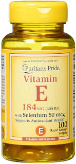 Vitamin E with selenium in bottle