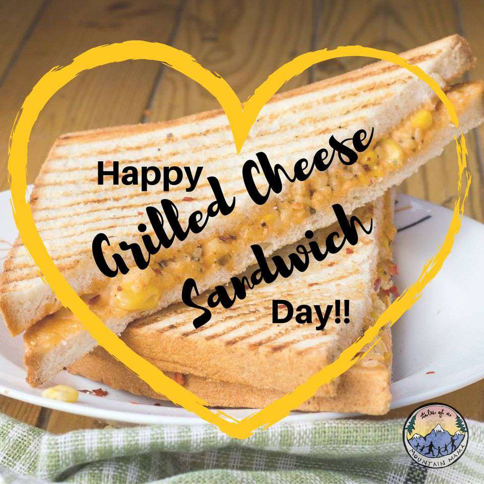 National Grilled Cheese Sandwich Day Wishes Beautiful Image