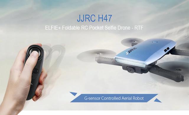 Coupon JJRC H47 ELFIE+ Foldable RC Pocket Selfie Drone - RTF