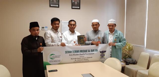 AMCF Hibahkan 400 Al-Quran Untuk RSUDZA