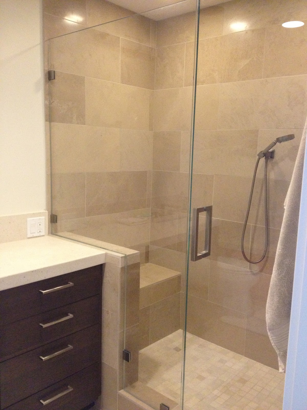 Suzy kloner design westwood condo project - Bathroom wall tile design patterns ...