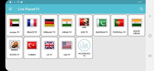 تحميل افضل تطبيق لمشاهدة القنوات العالمية تطبيق live planet tv