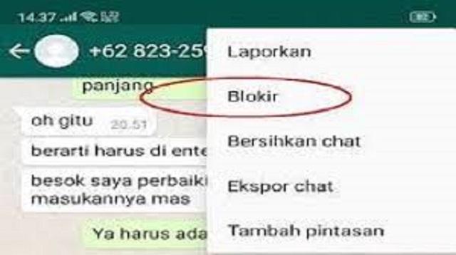 Cara Blokir Otomatis Nomor tidak Dikenal di WhatsApp