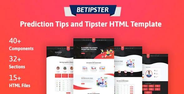 Prediction Tips & Tipster Platform HTML Template