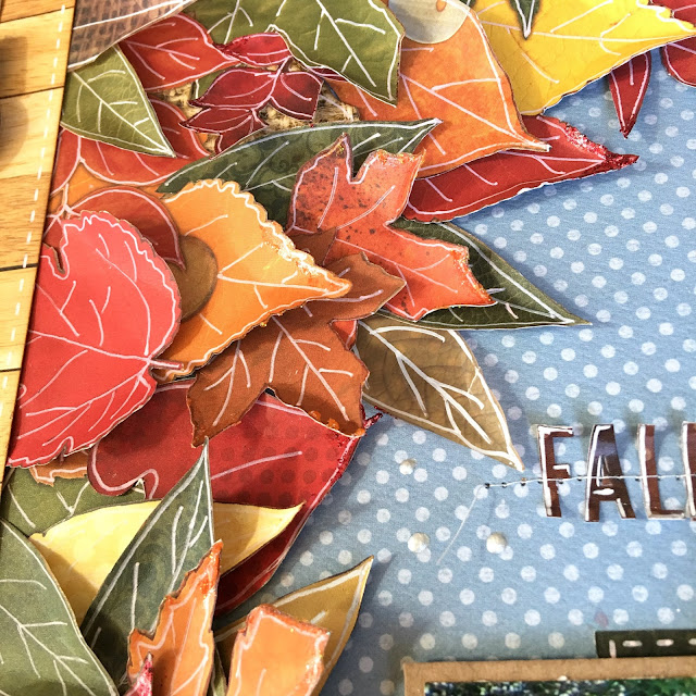 Fall Notes Scrapbook Page by Angela Tombari featuring BoBunny Farmers Market collection